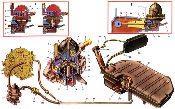 2104 ваз схема системы топливной